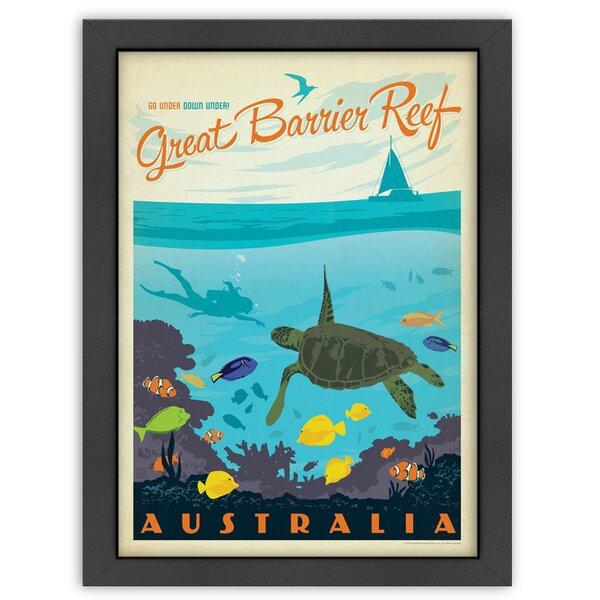Great Barrier Reef Framed Vintage Advertisement by East Urban Home