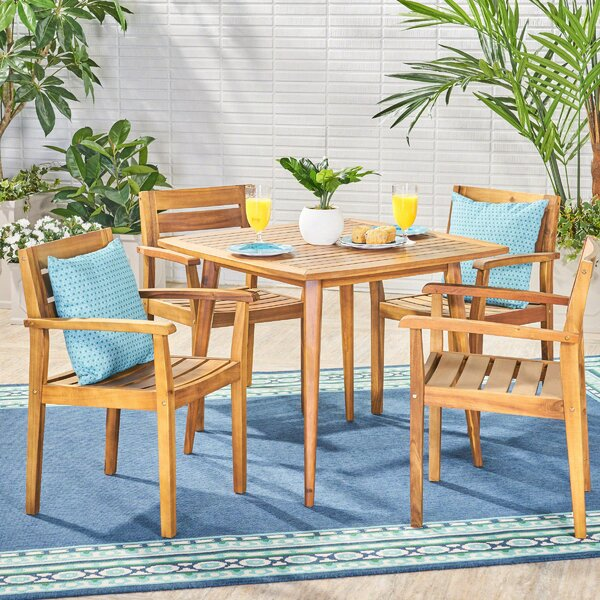 Brianna 5 Piece Dining Set by Bungalow Rose