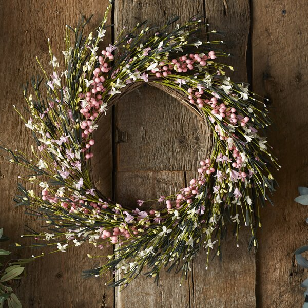 Flower and Berry Twig 20 Wreath by Worth Imports