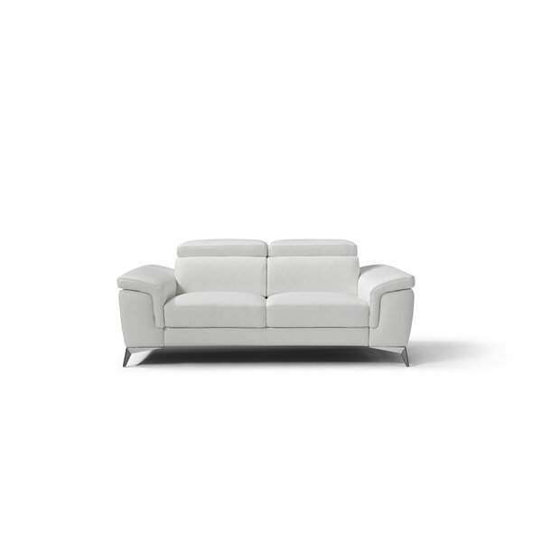 Weekend Choice Mikayda Leather Love Seat by Orren Ellis by Orren Ellis