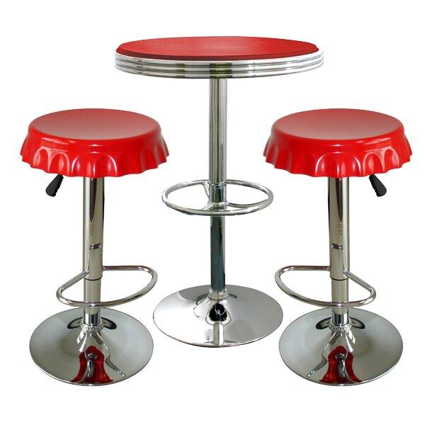 Southampton Retro Soda Cap 3 Piece Pub Table Set by Latitude Run