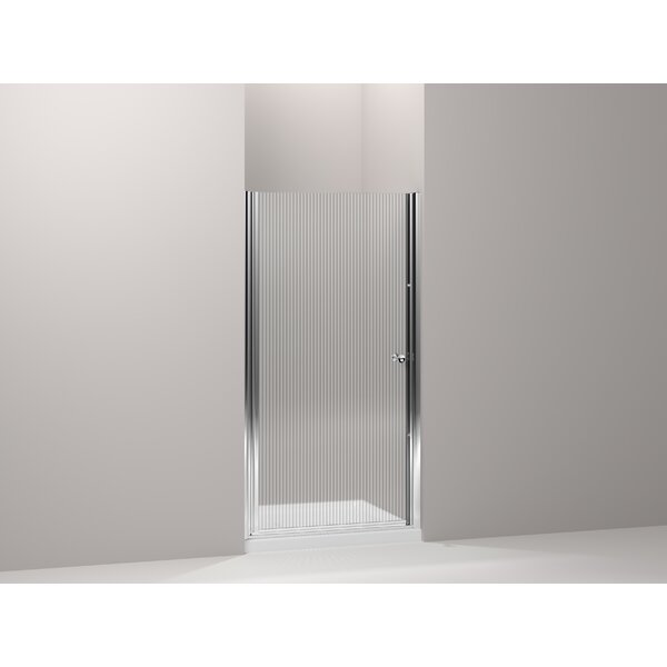 Fluence 37.75 x 65.5 Pivot Shower Door with CleanCoat® Technology by Kohler