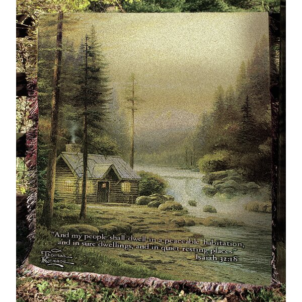 Evening in Forest Tapestry Cotton Throw by Manual Woodworkers & Weavers