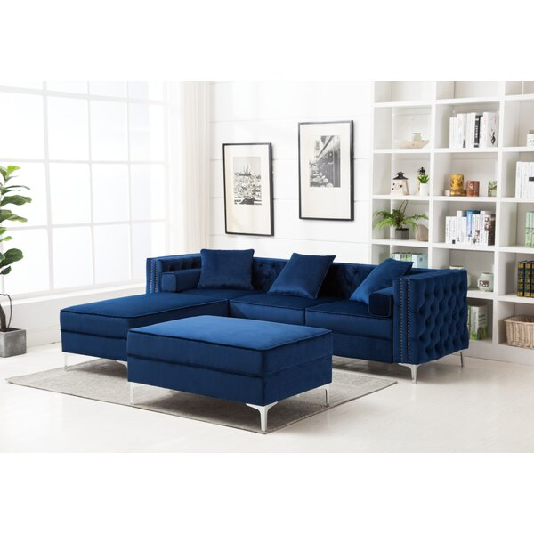 Sales-priced Zaida Reversible Sectional with Ottoman by House of Hampton by House of Hampton