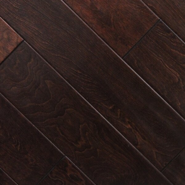 5 x 48 x 2.7mm Birch Laminate Flooring in Cherry Chocolate (Set of 22) by Serradon
