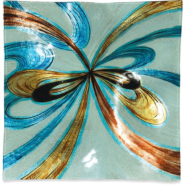 Sienna Swirls Plate (Set of 3) by Winston Porter