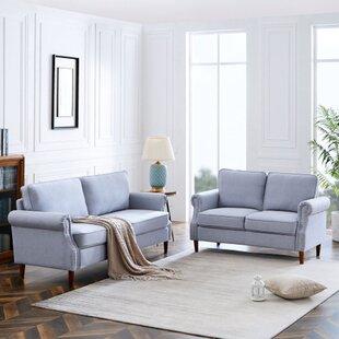Bhaktivinod 2 Piece Velvet Living Room Set by Red Barrel Studio®
