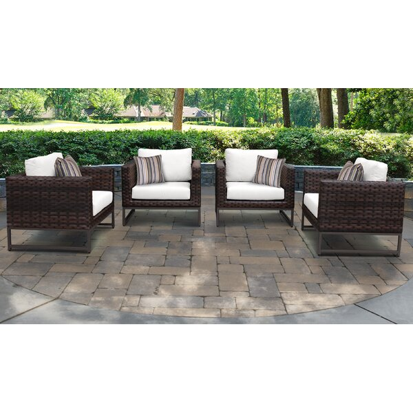 Barcelona Patio Chair with Cushions (Set of 4) by TK Classics