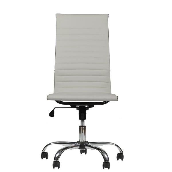 Fleener High-Back Armless Executive Office Chair b