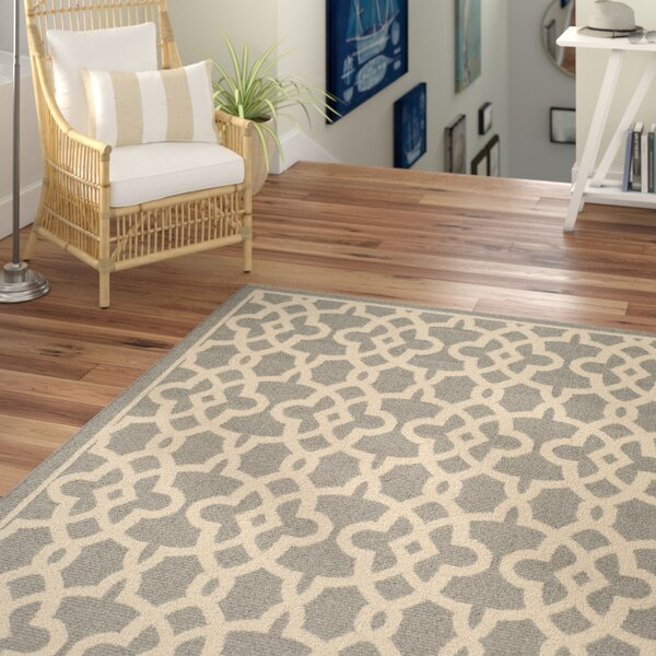 Ceri Grey Indoor/Outdoor Area Rug by Beachcrest Home