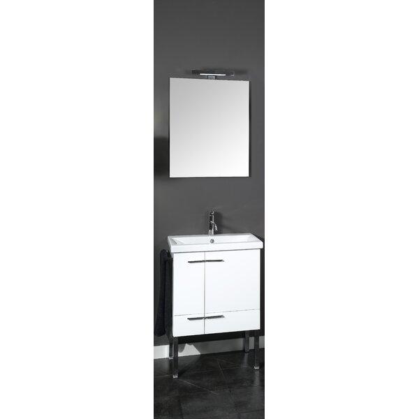 Simple 23 Single Wall Mounted Bathroom Vanity Set with Mirror by Iotti by Nameeks