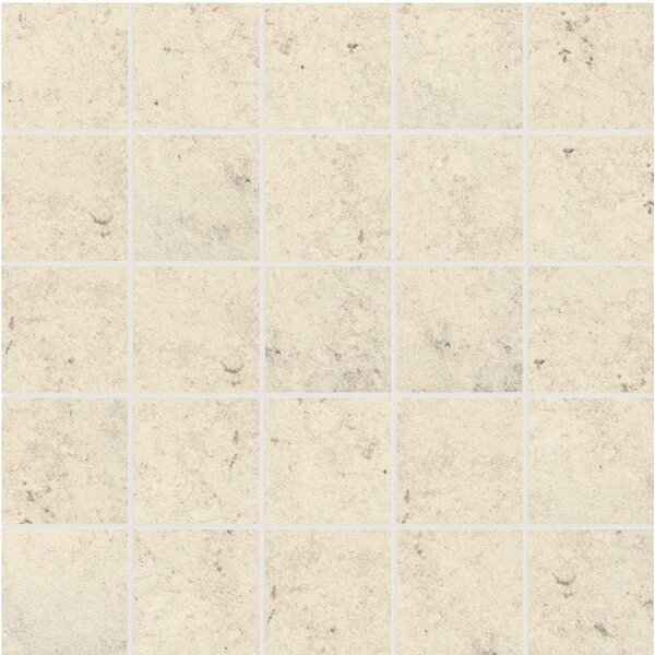 Trace Porcelain Mosaic in Mineral White by Lea Ceramiche