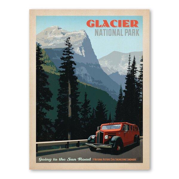 National Park Glacier 1002 Vintage Advertisement by Americanflat