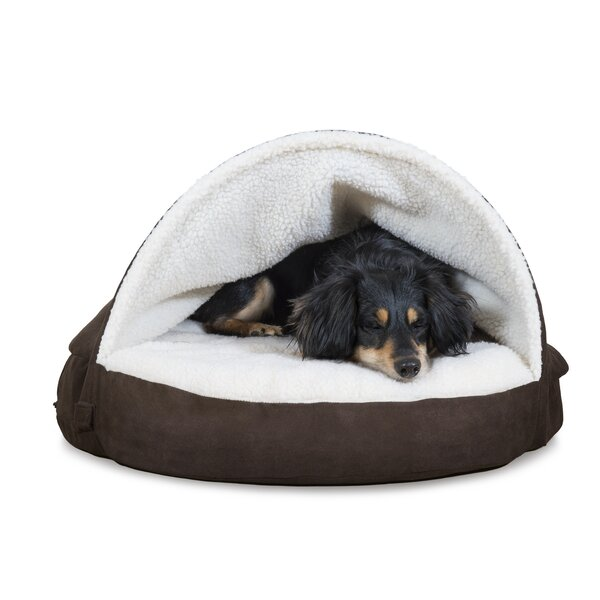Laidley Faux Sheepskin Snuggery Hooded with Gel Top Foam by Tucker Murphy Pet