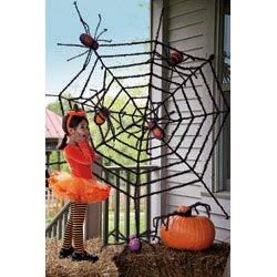 evergreen flag garden giant spider web halloween decoration reviews wayfair - Spider Web Decoration