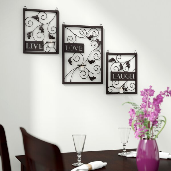 Live Love Laugh 3 Piece Black Wall Décor Set by Andover Mills