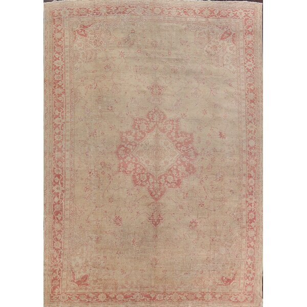 One-of-a-Kind Annalyah Hand-Knotted Oushak Brown 10'10 x 14'6 Wool Area Rug