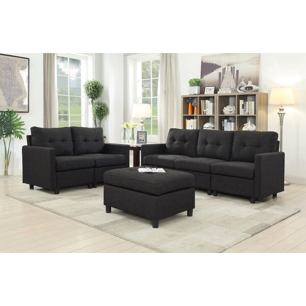 Brewer 3 Piece Living Room Set by Trule Teen