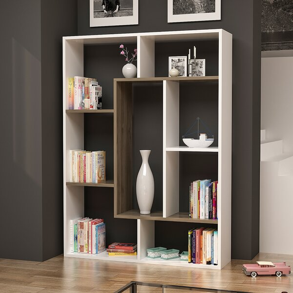 Chrisha Geometric Bookcase By Ivy Bronx