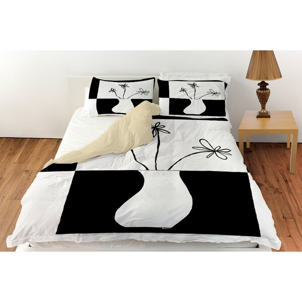 Minimalist Flower in Vase Duvet Collection