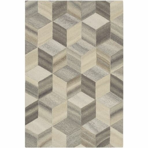 Pucklechurch Hand-Tufted Butter/Khaki Area Rug by Wrought Studio