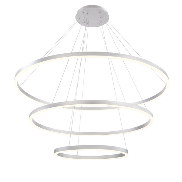 Beverlee Contemporary 3-Light LED Geometric Chandelier by Orren Ellis