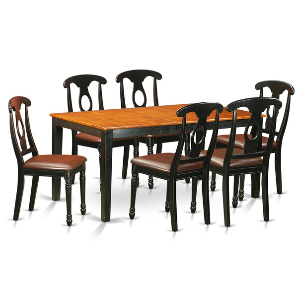Fresh Cleobury Traditional 7 Piece Dining Set With Rectangular Table Top By August Grove Top Reviews