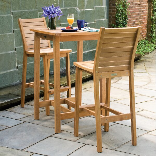 Morse 3 Piece Bar Height Dining Set by Rosecliff Heights