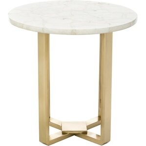 Quartz Round End Table by ..