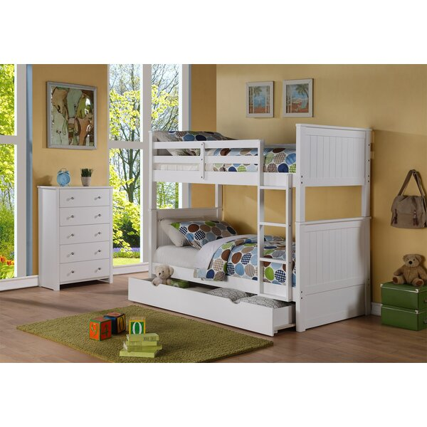 Watson Twin Over Twin Bunk Bed with Drawer by Harriet Bee