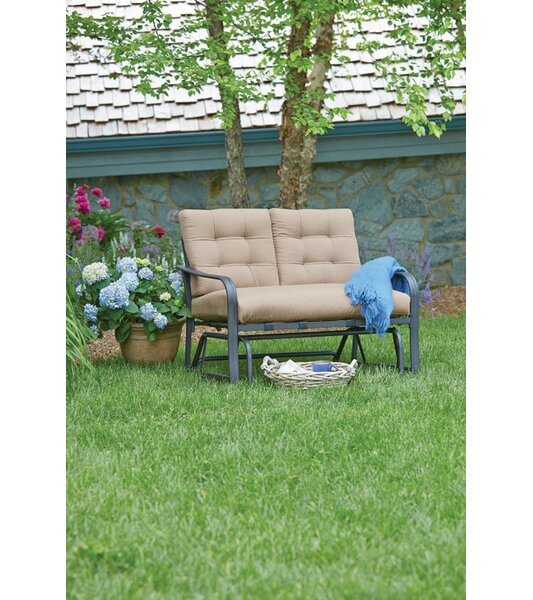 Woodbury Glider Bench with Cushions by Winston Porter