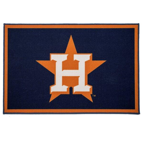 MLB Houston Astros Blue/Orange Area Rug by Delta Children