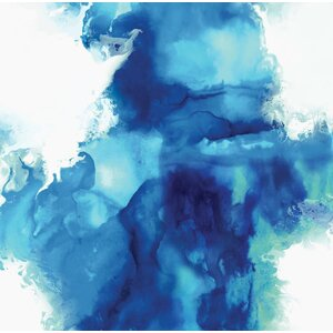 'Ascending in Blue I' Painting Print on Wrapped Canvas by Zipcode Design