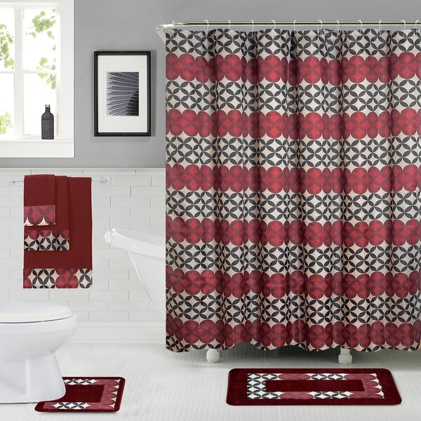Rosenbloom Shower Curtain Set by Latitude Run
