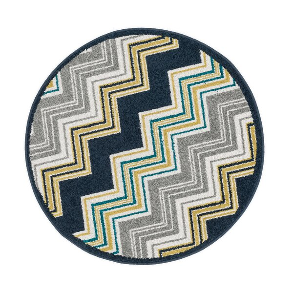 Laudenslager Navy/Gray Area Rug by Ebern Designs