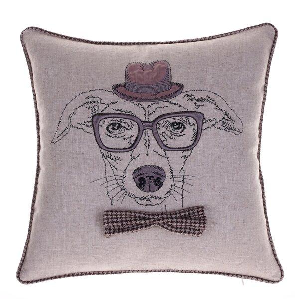 Distinguished Dog Pillow Louis Cranston Throw Pillow by 14 Karat Home Inc.