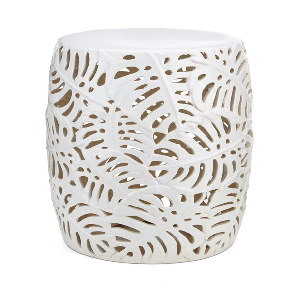 Poar Palm Leaf Garden Stool by Bay Isle Home