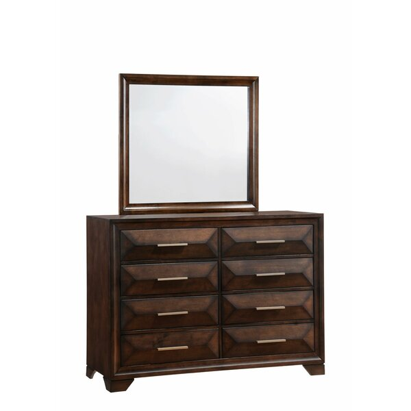 Pennington 8 Drawer Double Dresser with Mirror by Union Rustic