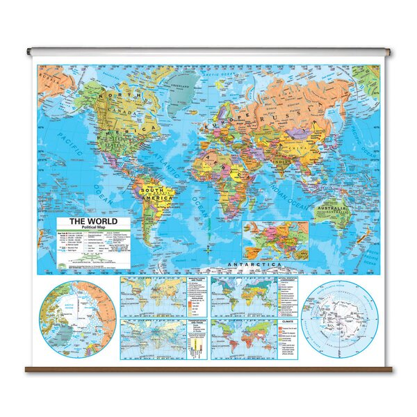 Advanced Political Map - World by Universal Map