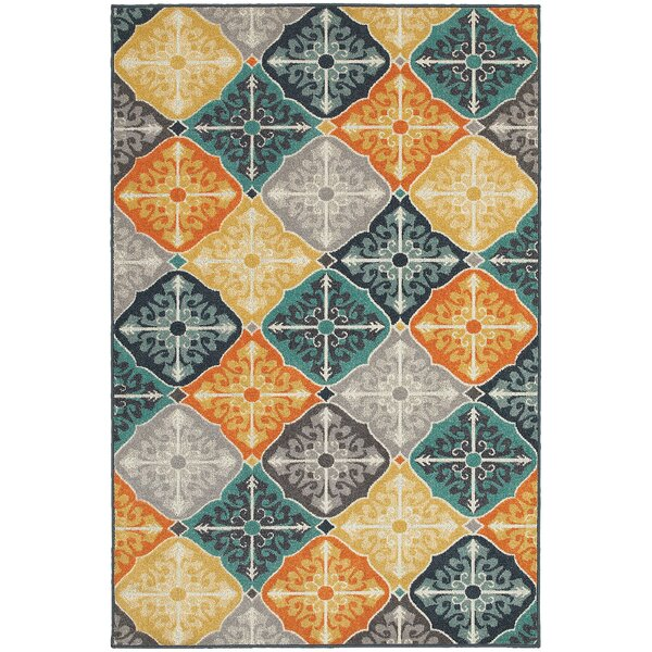Brookline Blue Indoor/Outdoor Area Rug by Threadbind