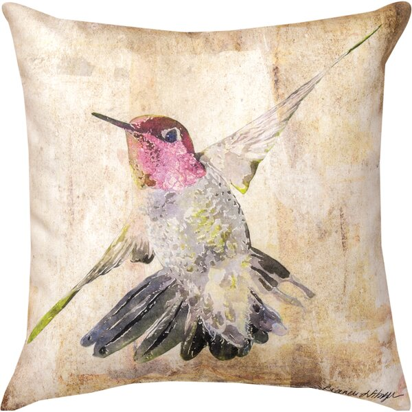 Hummingbird II Throw Pillow by Manual Woodworkers & Weavers