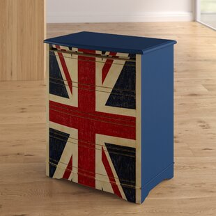 Flick Union Jack Accent 4 Drawer Chest