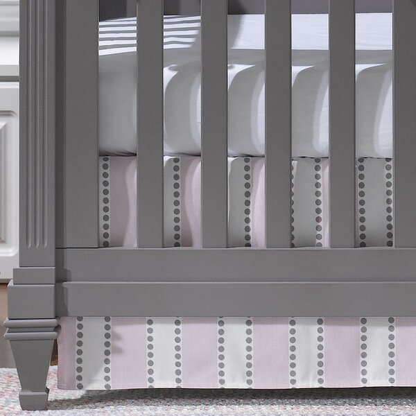 Bella Striped Crib Skirt by Liz and Roo Fine Baby Bedding