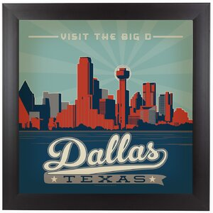 Dallas Framed Vintage Advertisement by East Urban Home