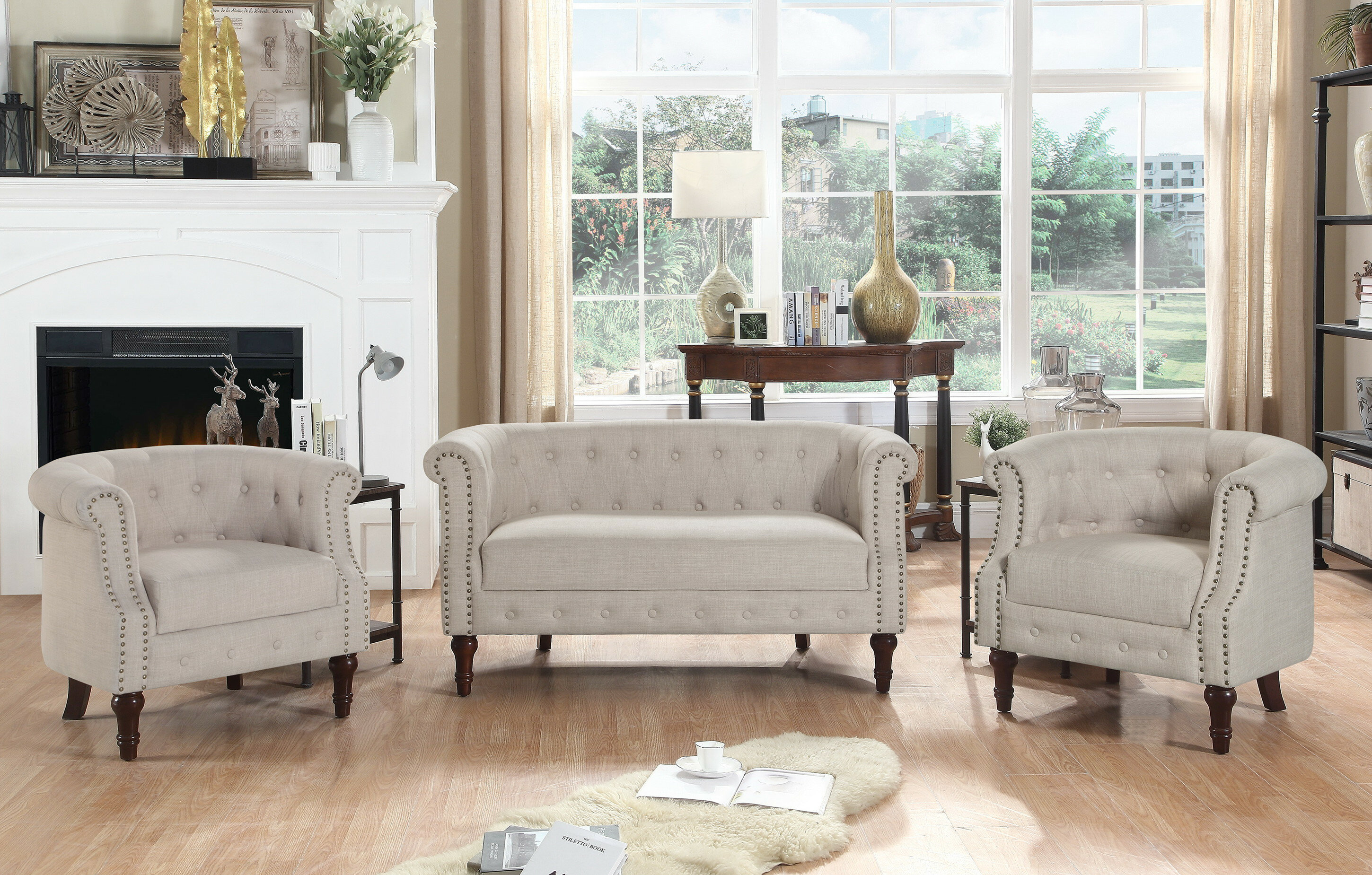 Kelty 3 Piece Living Room Set
