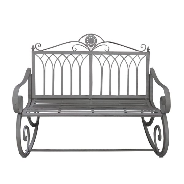 Curtiss Ornate Traditional Rocker Bench by Astoria Grand