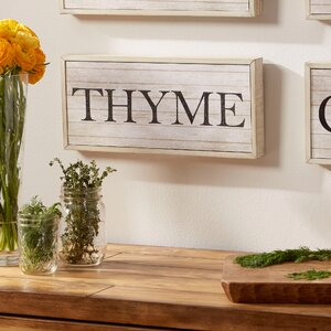 Thyme Herbs Plaque by Birch Lane™