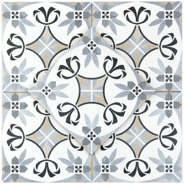 Anabella 9 x 9 Porcelain Field Tile in Royale by Splashback Tile