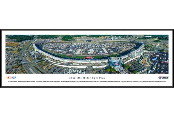 NASCAR Charlotte Motor Speedway by James Blakeway Framed Photographic Print by Blakeway Worldwide Panoramas, Inc