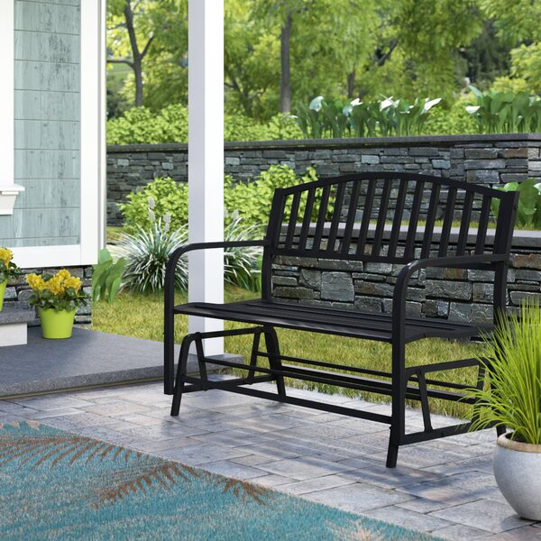 Liv Outdoor Patio Glider Bench by Breakwater Bay